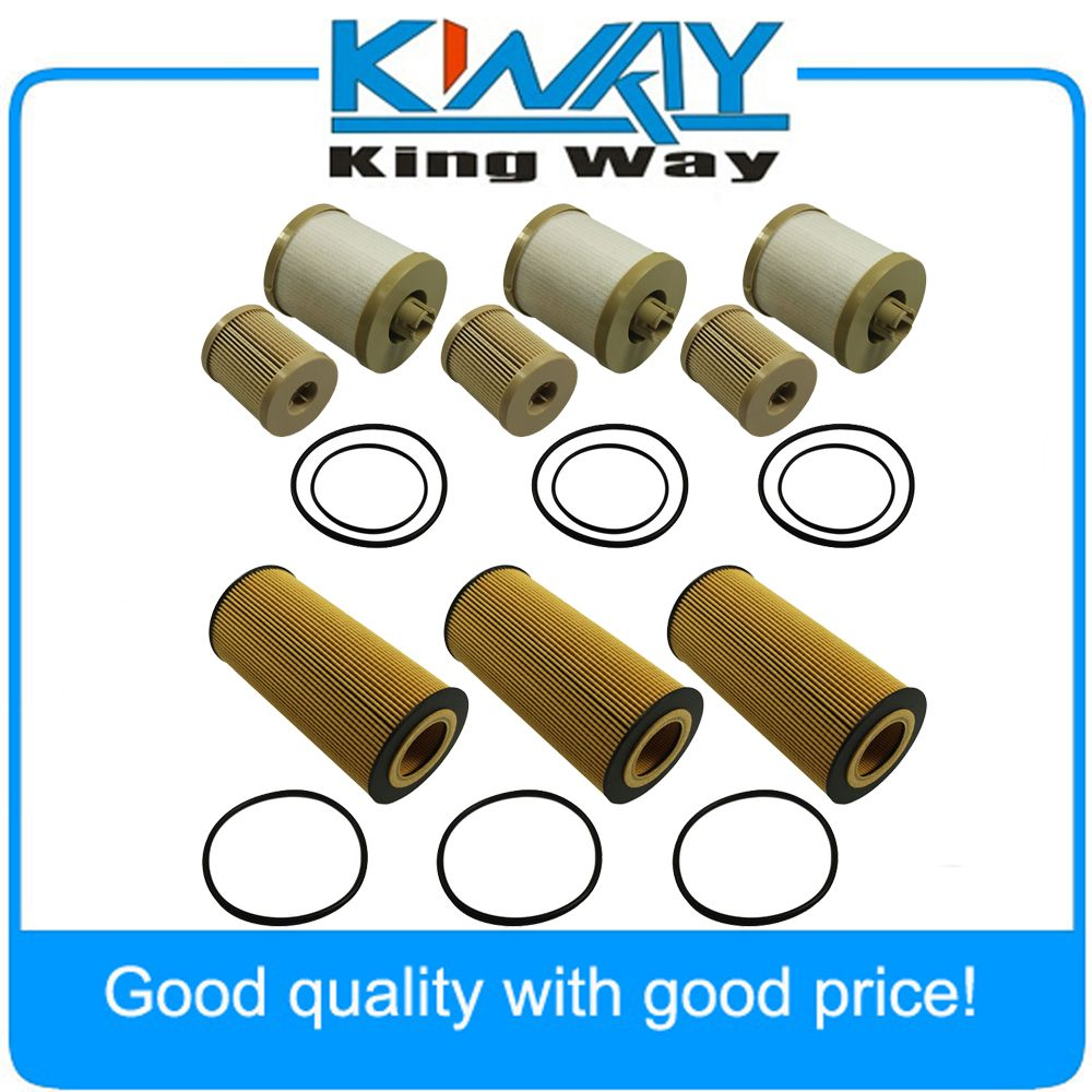 3 of Each Fuel & Oil Filter Replacement FD4616 FL2016 For Ford 2003-2007 6.0L Turbo Diesel