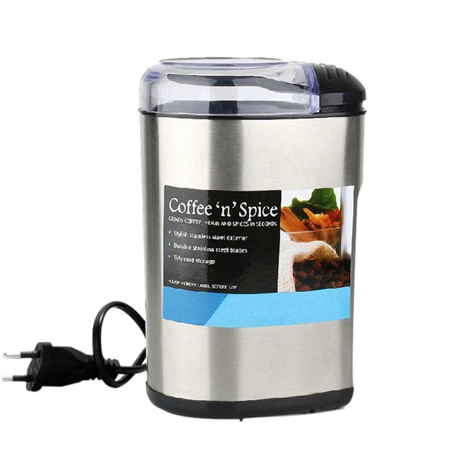 Electric Coffee Grinder Coffee MakerMultifunction Household Electric Coffee Grinder Stainless Steel Bean Spice Maker Grinding