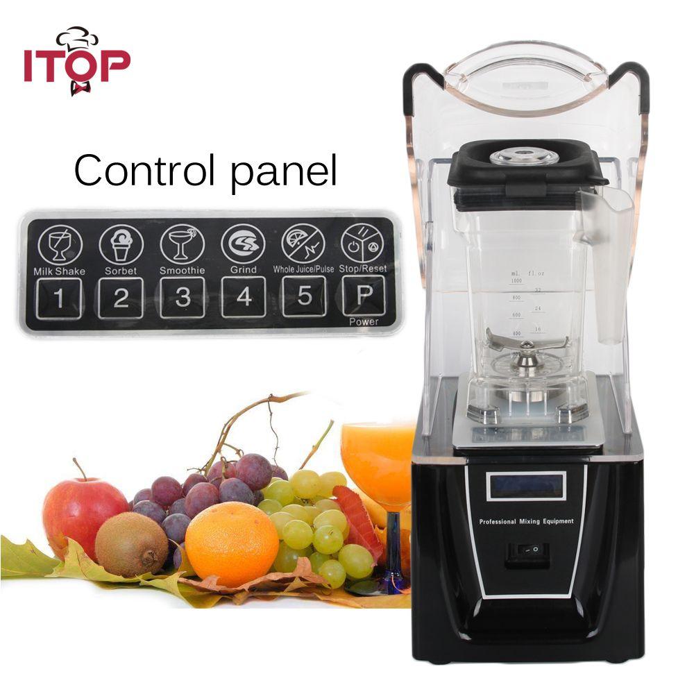 Commercial or Household Blender with Sound Cover 1800W professional bar smoothie blender Food Mixer Juicer 110V/220V