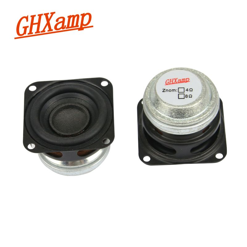 GHXAMP 1.5 pouces 10 W Portable Bluetooth haut-parleur 4OHM gamme complète haut-parleur Mini néodyme mi Woofer Home cinéma bricolage HIFI 2 pièces