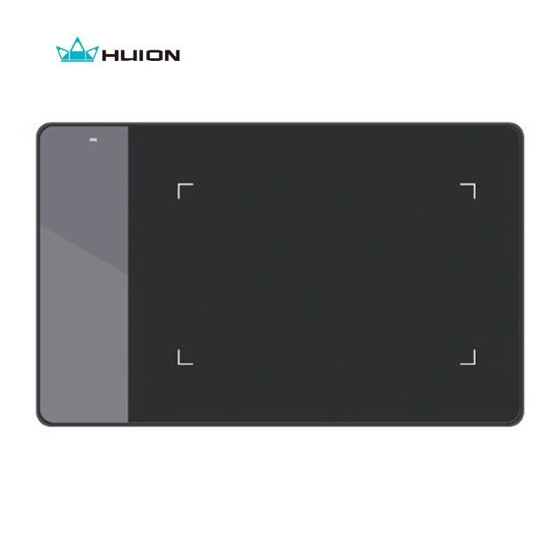 Huion 420 Digital Graphics Drawing Tablet OSU Game Tablet Pen Pressure Signature Pad with Battery Pen -- Black and White