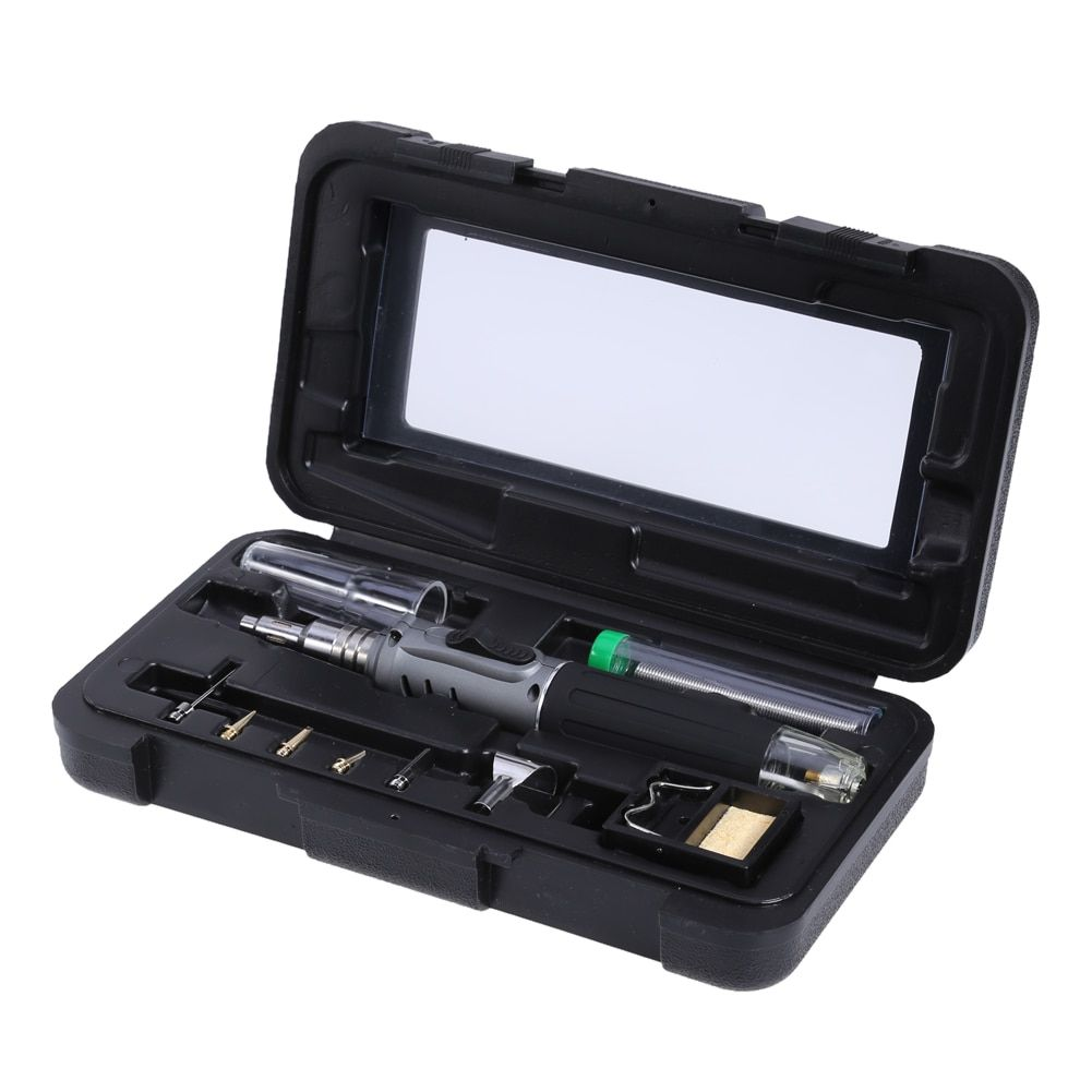 10 in 1 HS-1115K Self-ignition Wireless Gas Soldering Iron Cordless Welding Torch Kit Tool Ignition Butane Gas Burner for Solder