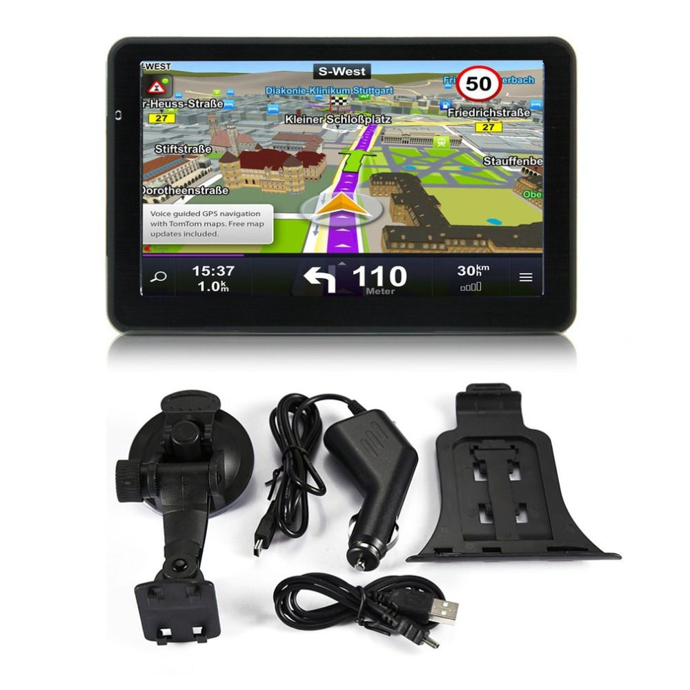 7 inch Car Truck GPS Navigation 256M+8GB Capacitive Screen FM Navigator Reversing Camera Touch Sensor Accurately Position