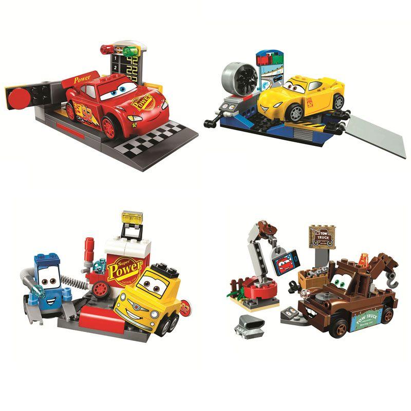 Pogo Bela Compatible Legoe 10681-10684 Race Racing Cars Movies Building Blocks Bricks Toys