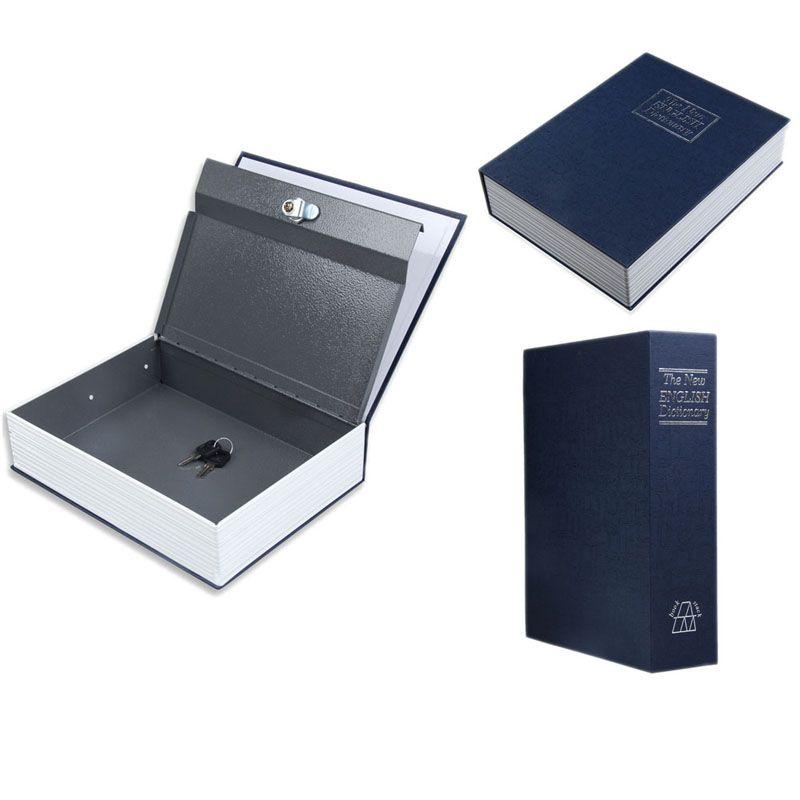 Dictionnaire Style Coffre-fort Bleu Sécurité Cash Money Coffre Boîte De Rangement Cas Taille S Bijoux Casier Boîte Trésorerie Sécurisé Boîtes