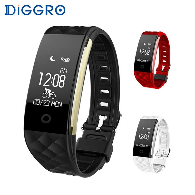 Diggro S2 Smart Wristband <font><b>Heart</b></font> Rate Monitor IP67 Sport Fitness Bracelet Tracker Bluetooth For Android IOS PK miband 2