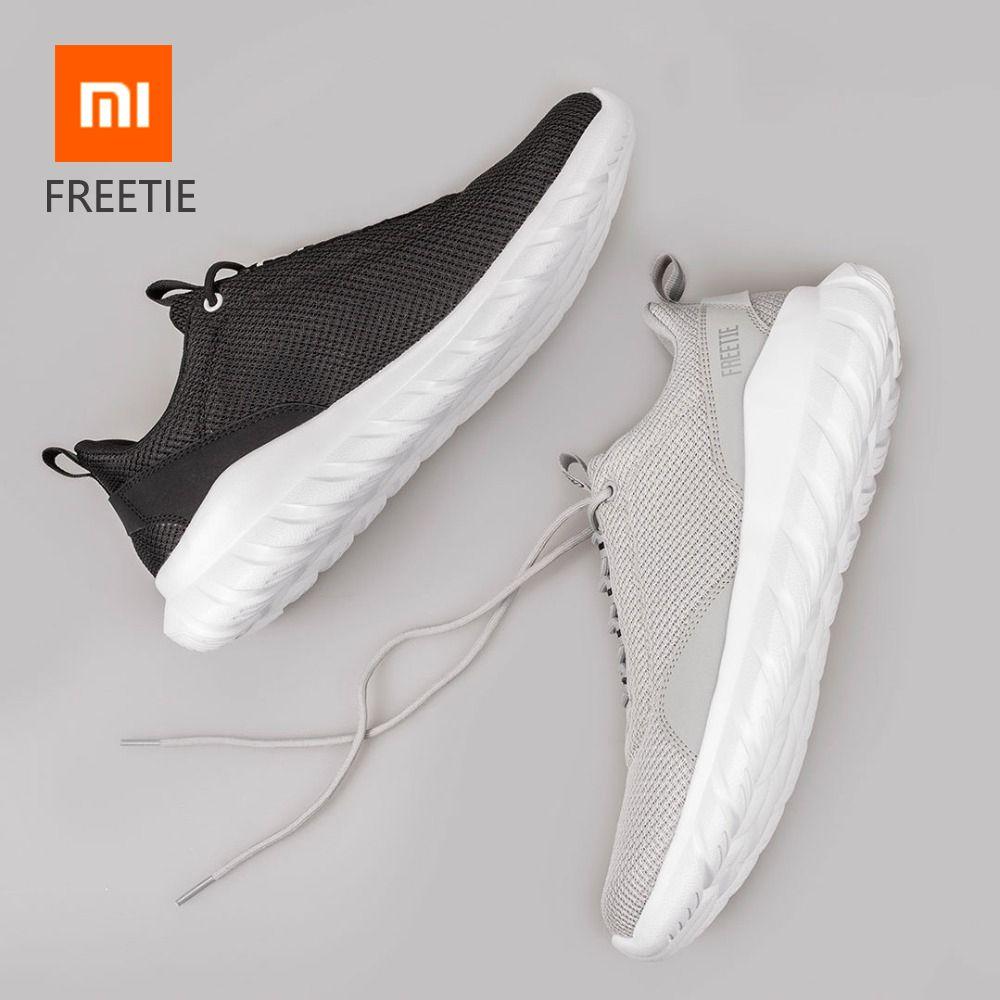 D'origine Xiaomi FREETIE 39-44 grande taille hommes Chaussures De Sport Respirant Léger Tricot Ville De Sport En Cours D'exécution pour les Sports De Plein Air