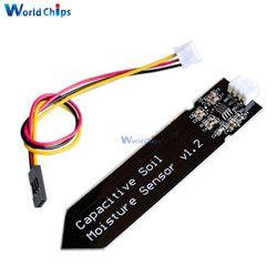 Capacitif Sol Capteur D'humidité Module Pas Facile à Se Corroder Large Tension Fil 3.3 ~ 5.5 V Résistant À La Corrosion W/gravité pour Arduino