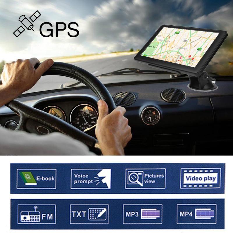 Portable 7 inch HD Car GPS Navigation Capacitive screen FM 8GB Vehicle Truck GPS Car navigator Europe Sat nav Lifetime Map New