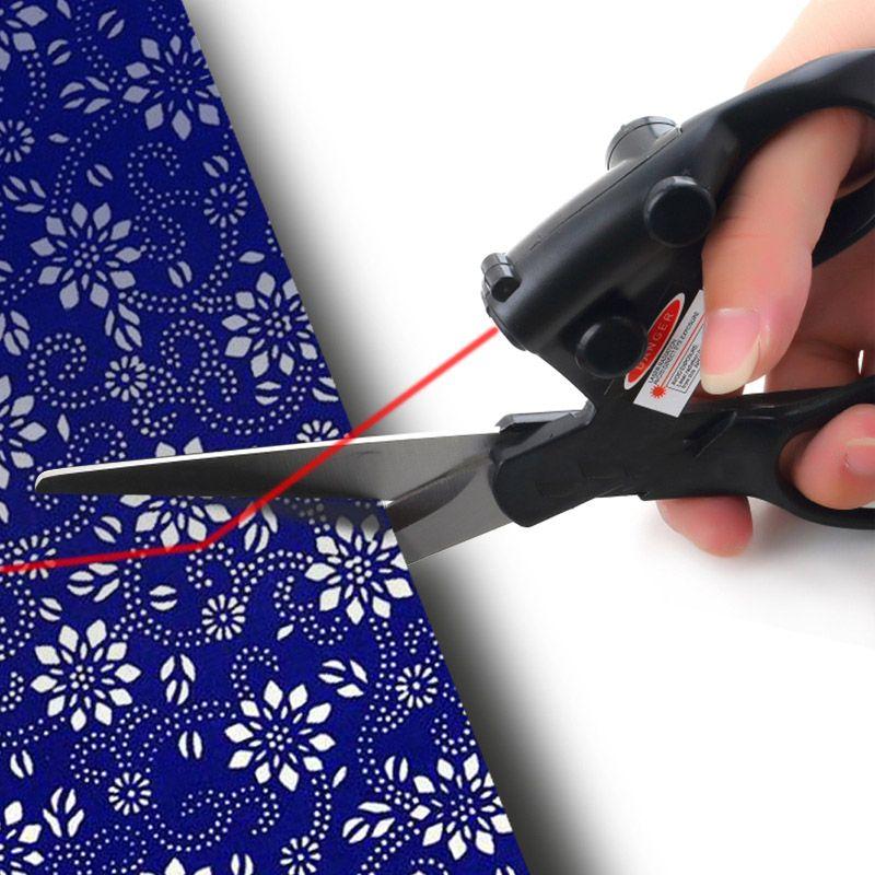 Ciseaux professionnels de couture guidés par Laser bricolage ciseaux infrarouges de positionnement de Laser d'acier inoxydable pour des fournitures de couture d'aiguille