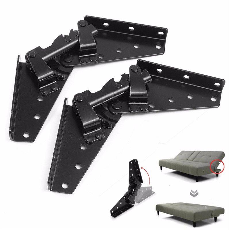 MTGATHER KYA023-1 Hot-rolled Steel Black Sofa Bed Bedding Furniture Adjustable 3-Position Angle Mechanism Hinge Hardware
