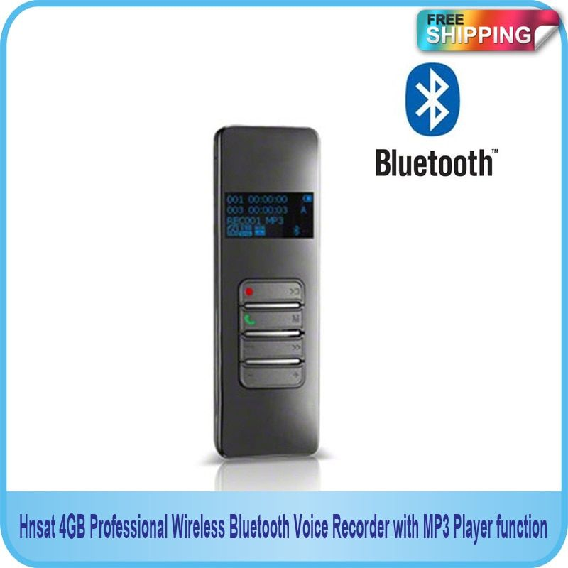 Free Shipping!! NEW 4GB Professional Wireless Bluetooth USB Voice Recorder with MP3 Player function