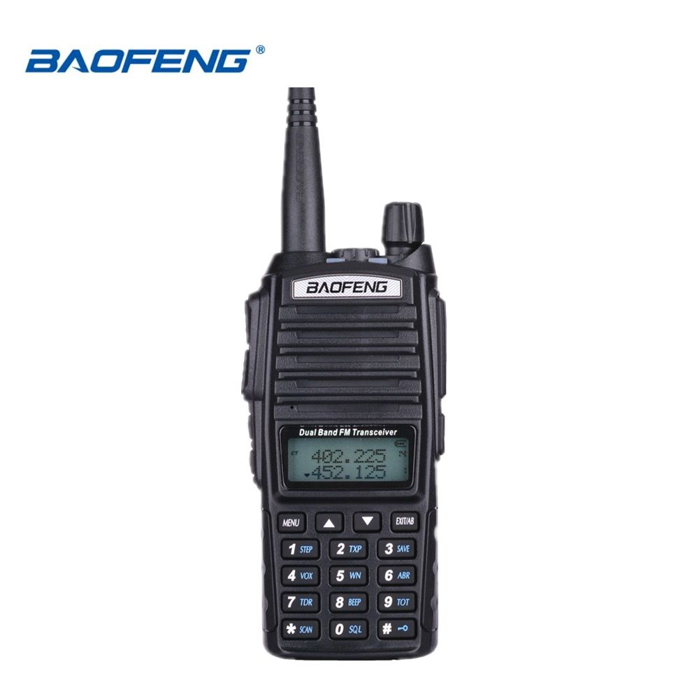 100% Baofeng UV-82 Walkie Talkie Dual Band Ham Radio Intercom UV82 Two Way Radio VHF UHF Portable Hunting Hf Transceiver UV 82