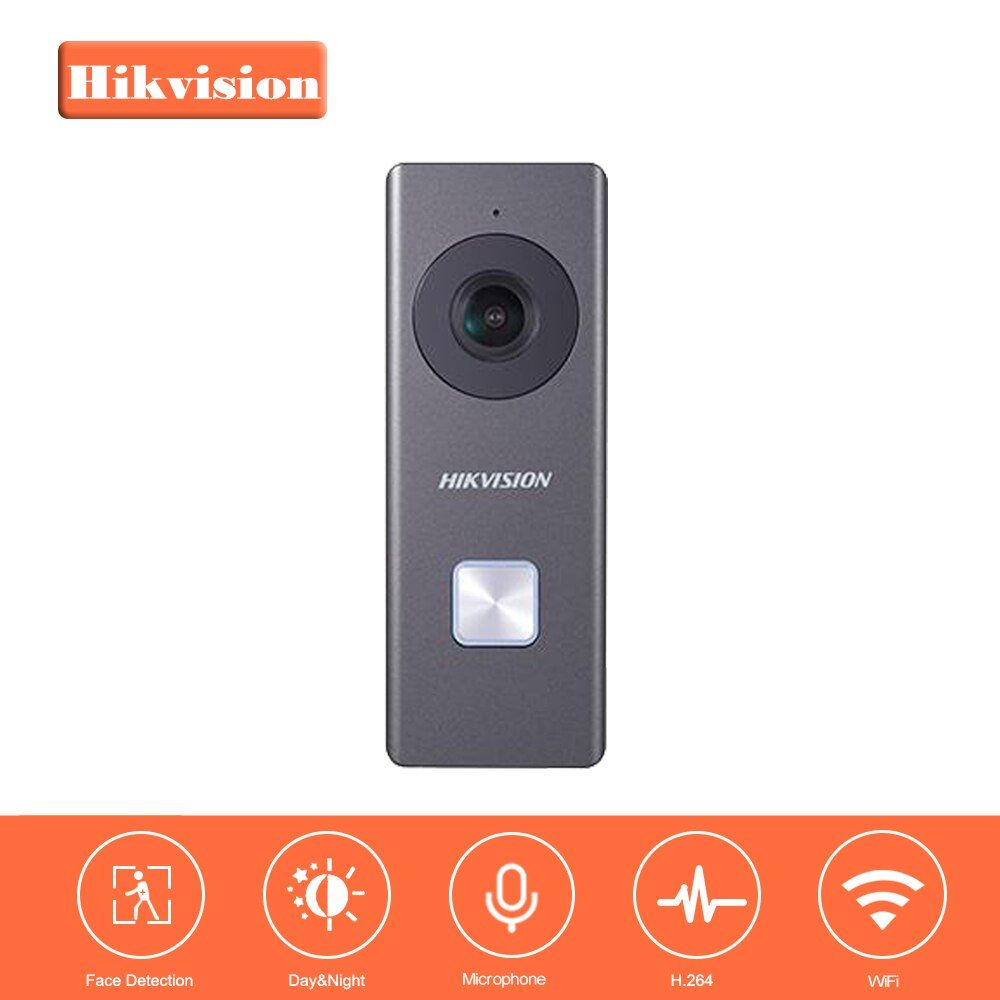 HIKVISION WiFi Video Doorbell DS-KB6003-WIP Built-in Omnidirectional Microphone and Loudspeaker 2MP 24V Power Supply not include