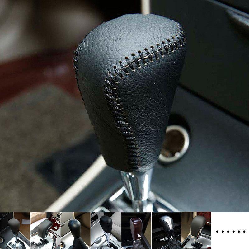 Car Genuine Leather Gear Shift Collars Gear Shift Knob Cover for Toyota corolla,rav4,yaris,avensis,auris,car styling