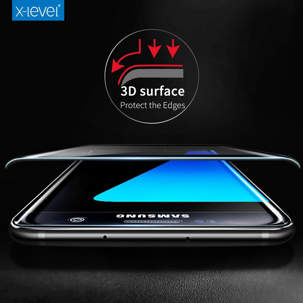 X-Level 3D 0.2mm 9H Tempered Glass Full Cover Protective for Samsung Galaxy S7 edge Screen Protector