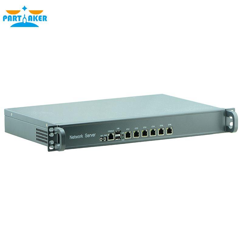 1HE Rack Firewall Router Netzwerk Server 6 82583 v D525 1,8G Unterstützung ROS Mikrotik PFSense F4 2G RAM 8G SSD