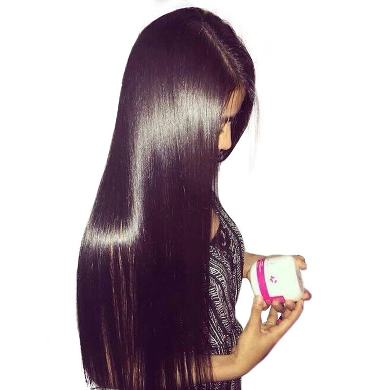 Silky Straight Lace Front Human Hair Wigs With Baby Hair 250% Density Brazilian Frontal Hair Wig Pre Plucked Honey Queen Remy