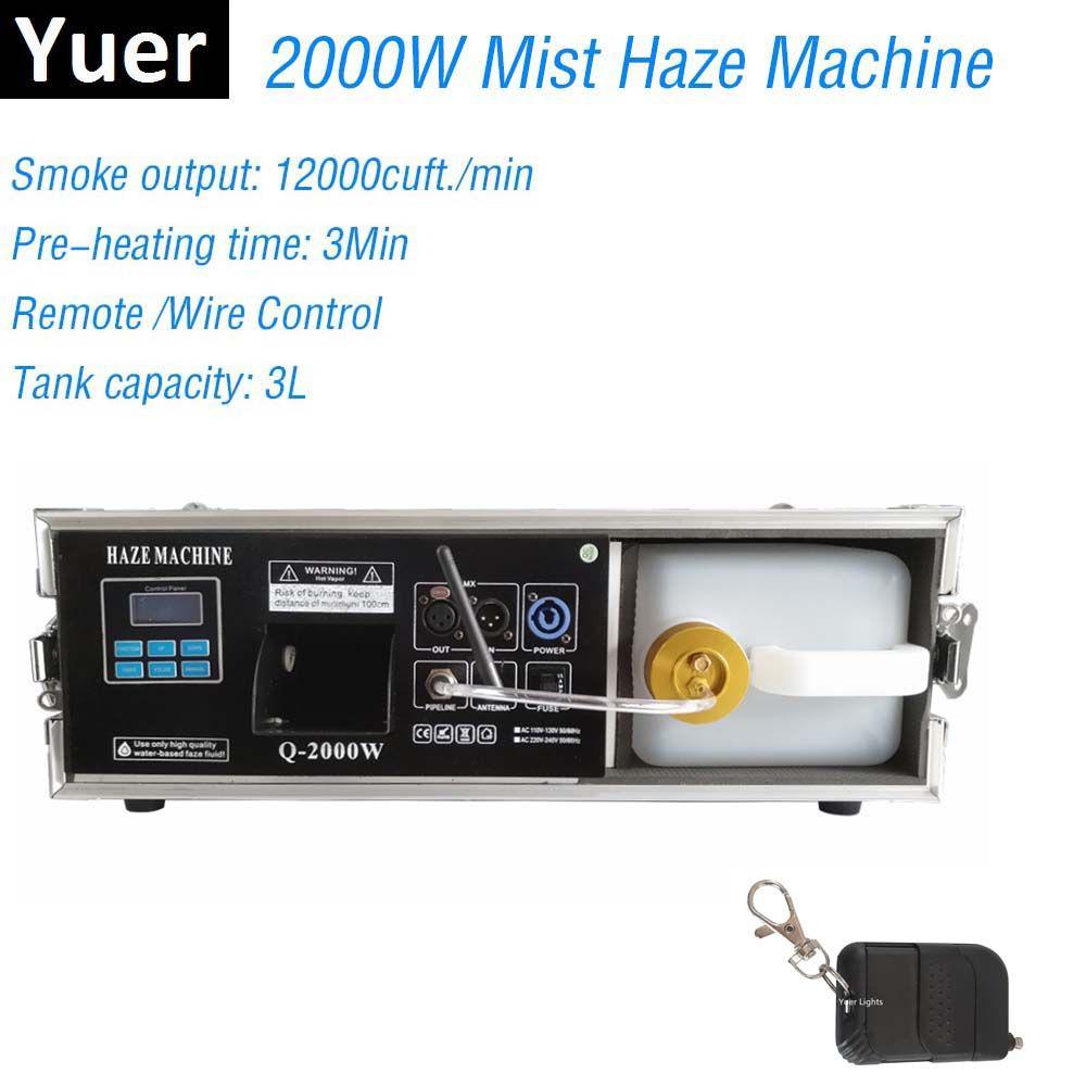 2000W Bühne Nebel Haze Maschine Nebel Maschine Mit DMX Control Flight Fall Paket 3L Rauch Maschine Bühne Beleuchtung Wirkung dj Club