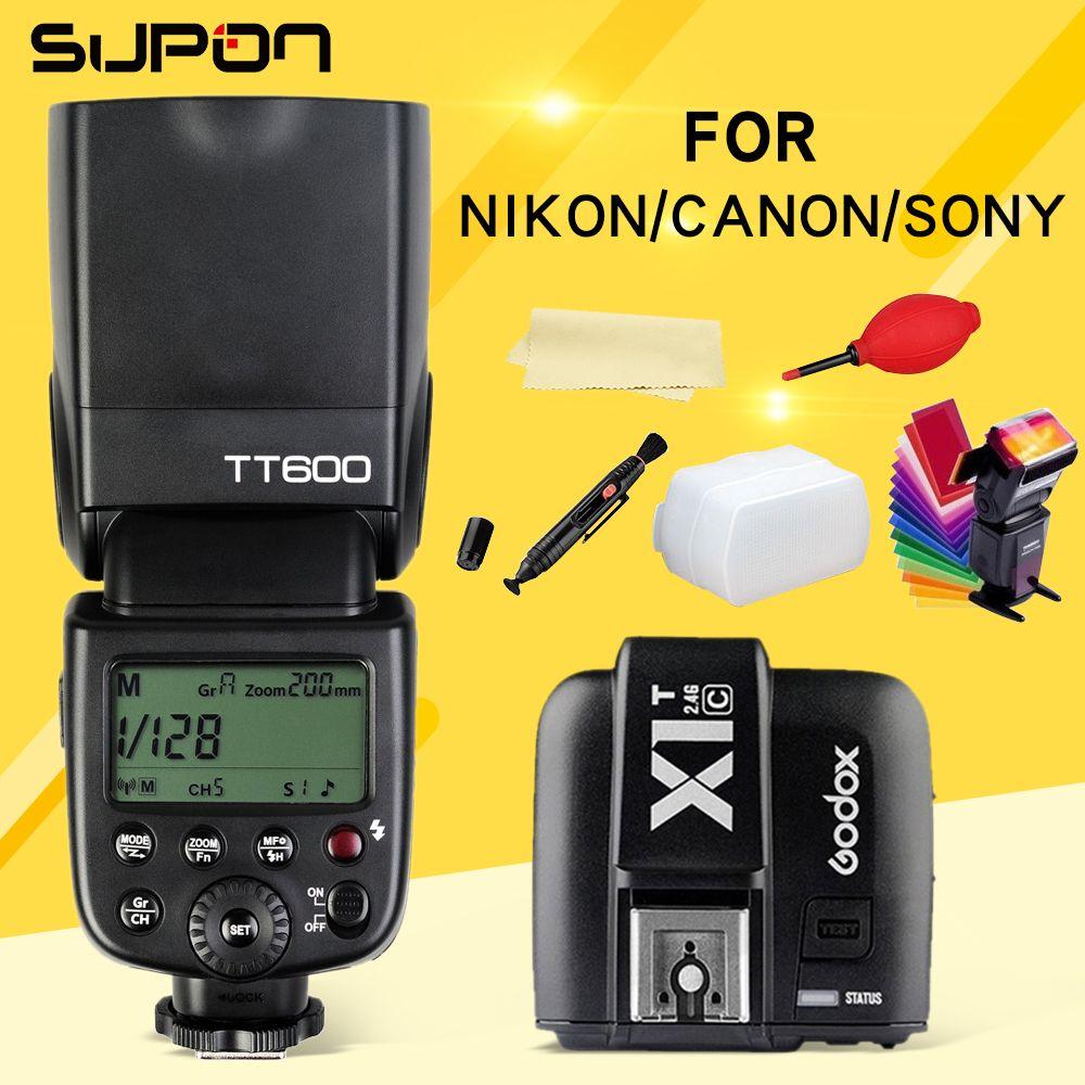 Godox TT600 TT600S Flash 2.4G Wireless Speedlite + X1T-C/N/S/F/O Wireless Flash Trigger for Canon Nikon Sony Fujifilm Olympus