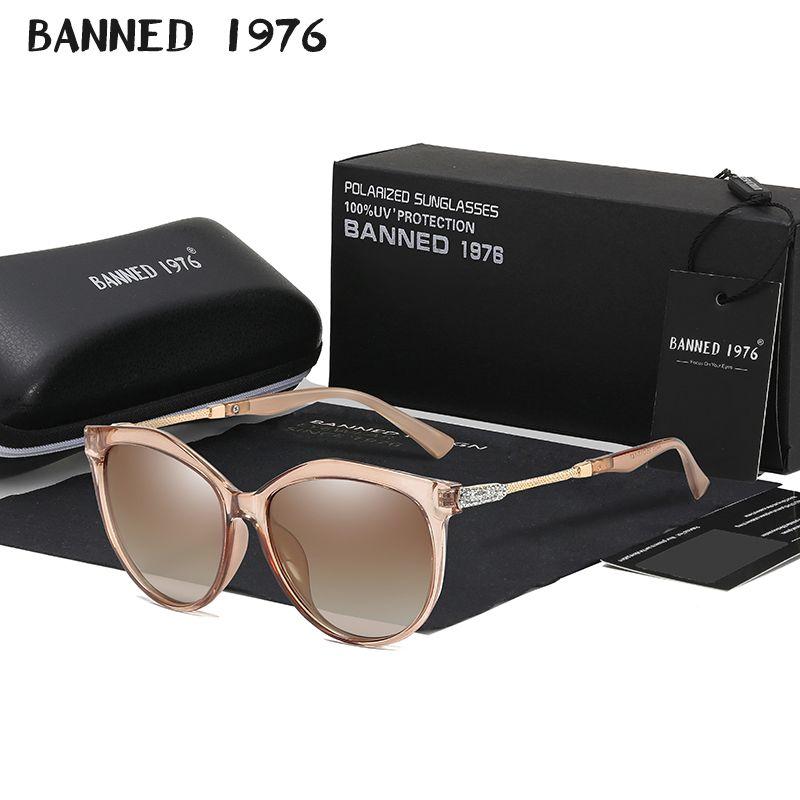 2019 New Luxury HD Polarized Women Sunglasses Fashion Round Ladies Vintage Brand Design cat eye woman Female Sun Glasses oculos