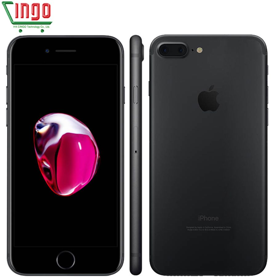 Apple iPhone 7 Plus 3GB RAM 32/128GB/<font><b>256GB</b></font> IOS Cell Phone LTE 12.0MP Camera Apple Quad-Core Fingerprint 12MP 2910mA