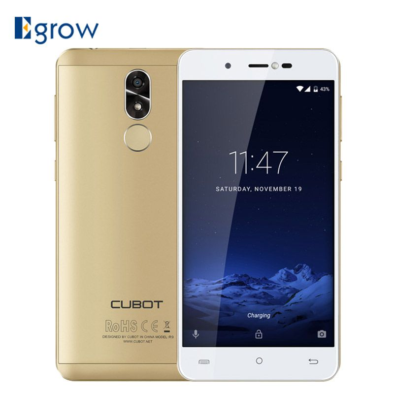 CUBOT R9 Fingerprint ID Android 7.0 MTK6580 Quad Core 1.3GHz Smartphone 5.0