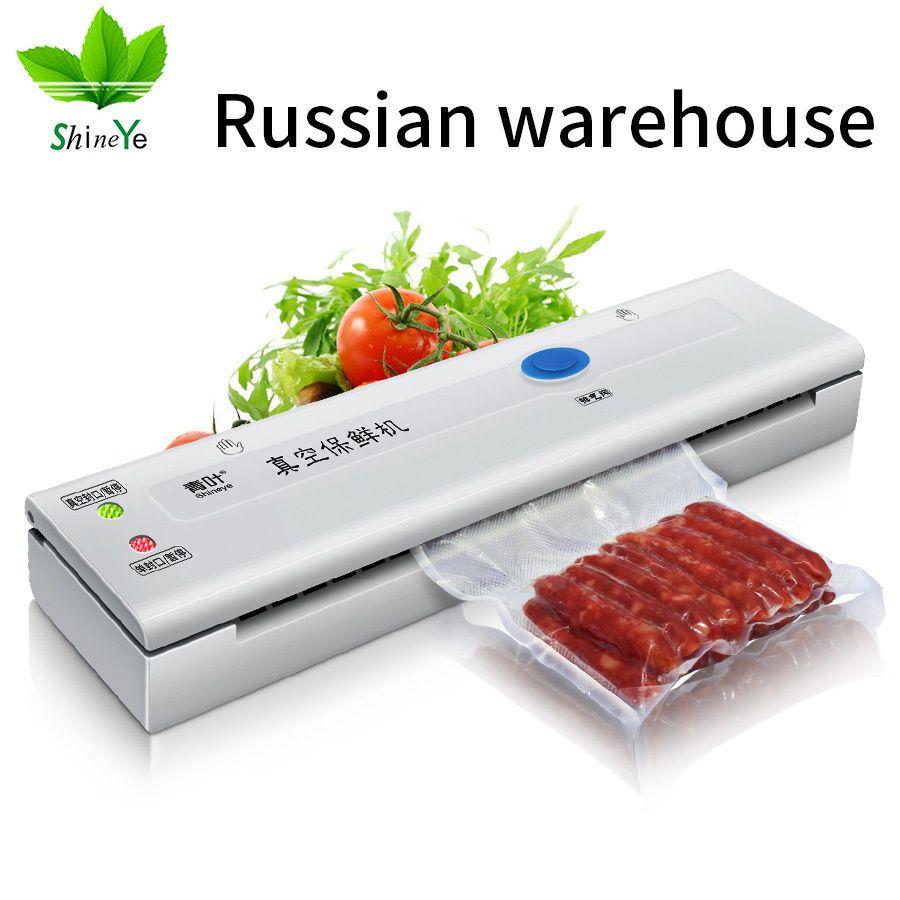 ShineYe ménage Intelligence alimentaire scelleur sous vide Machine d'emballage 220 V/110 V Film alimentaire scelleur sous vide emballeur pour économiseur de nourriture