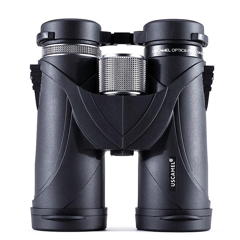 USCAMEL 10x42 Fernglas Professionelle Teleskop Military HD Jagd Outdoor, Schwarz