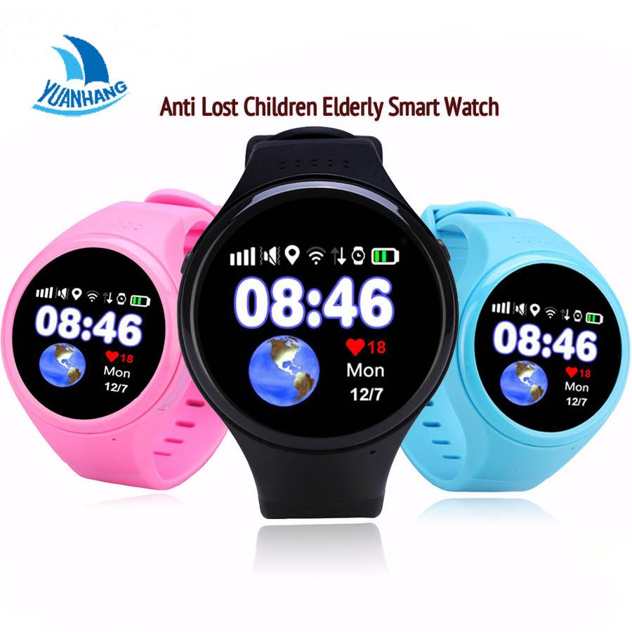 1.22' Round Touch Screen Smart Super GPS WIFI AGPS Tracking SmartWatch SOS Pedometer Watch For kids Children Elder Ios Android