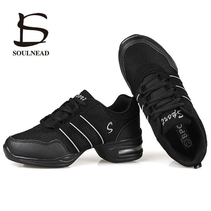 Chaussures de danse pour femmes sport caractéristique danse moderne Jazz chaussures semelle extérieure souple respiration chaussures de danse femme pratique baskets EU 34-42