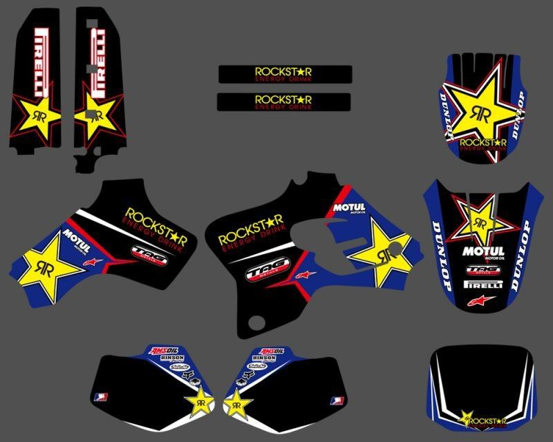 0209 New Star TEAM  GRAPHICS&BACKGROUNDS DECALS STICKERS Kits Fit Yamaha YZ80 YZ 80 1993 1994 1995 1996 1997 1998 1999 2000 2001