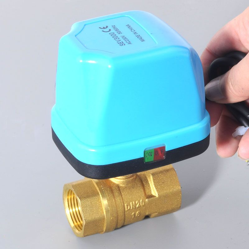 2017 new DN15 DN20 DN25 DN32 AC220V Electric Ball Valve Brass <font><b>Motorized</b></font> Ball Valve ,Switch type electric two-way valves