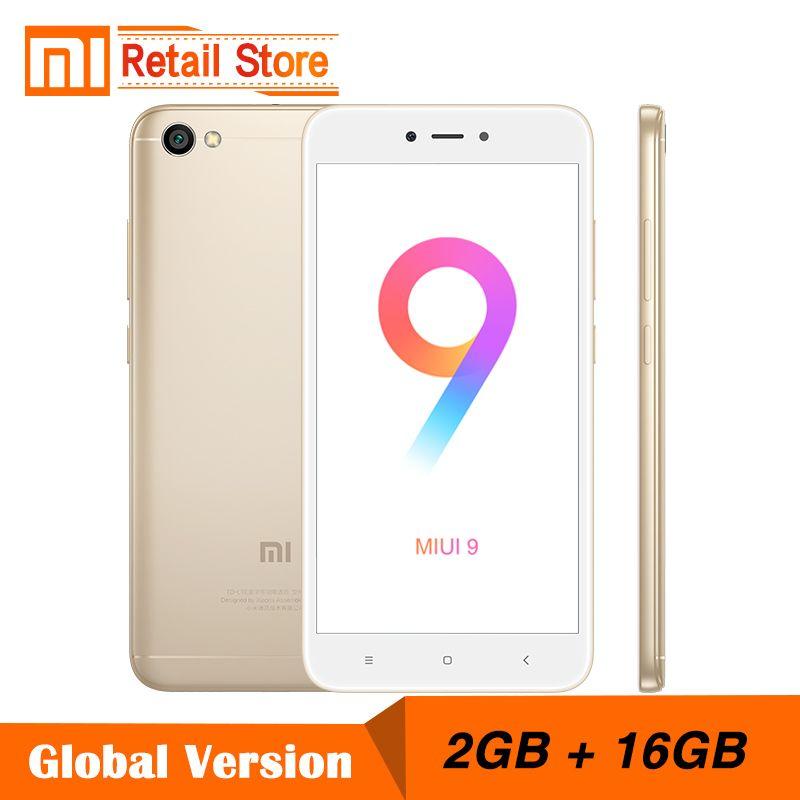 Global Version Xiaomi Redmi Note 5A 2GB RAM 16GB ROM Cellphone Note 5 A Snapdragon Quad Core CPU 5.5 Inch 13.0MP B4 B20 MIUI 9