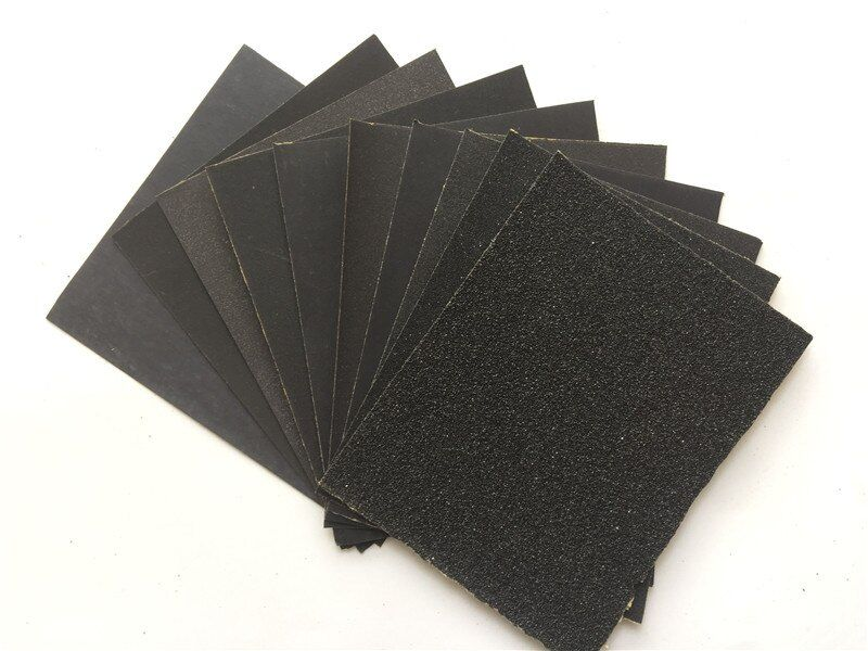 10pcs/set silicone carbide waterproof emery abrasive paper sandpaper sand polish grind wet/dry tool grit 60-2000