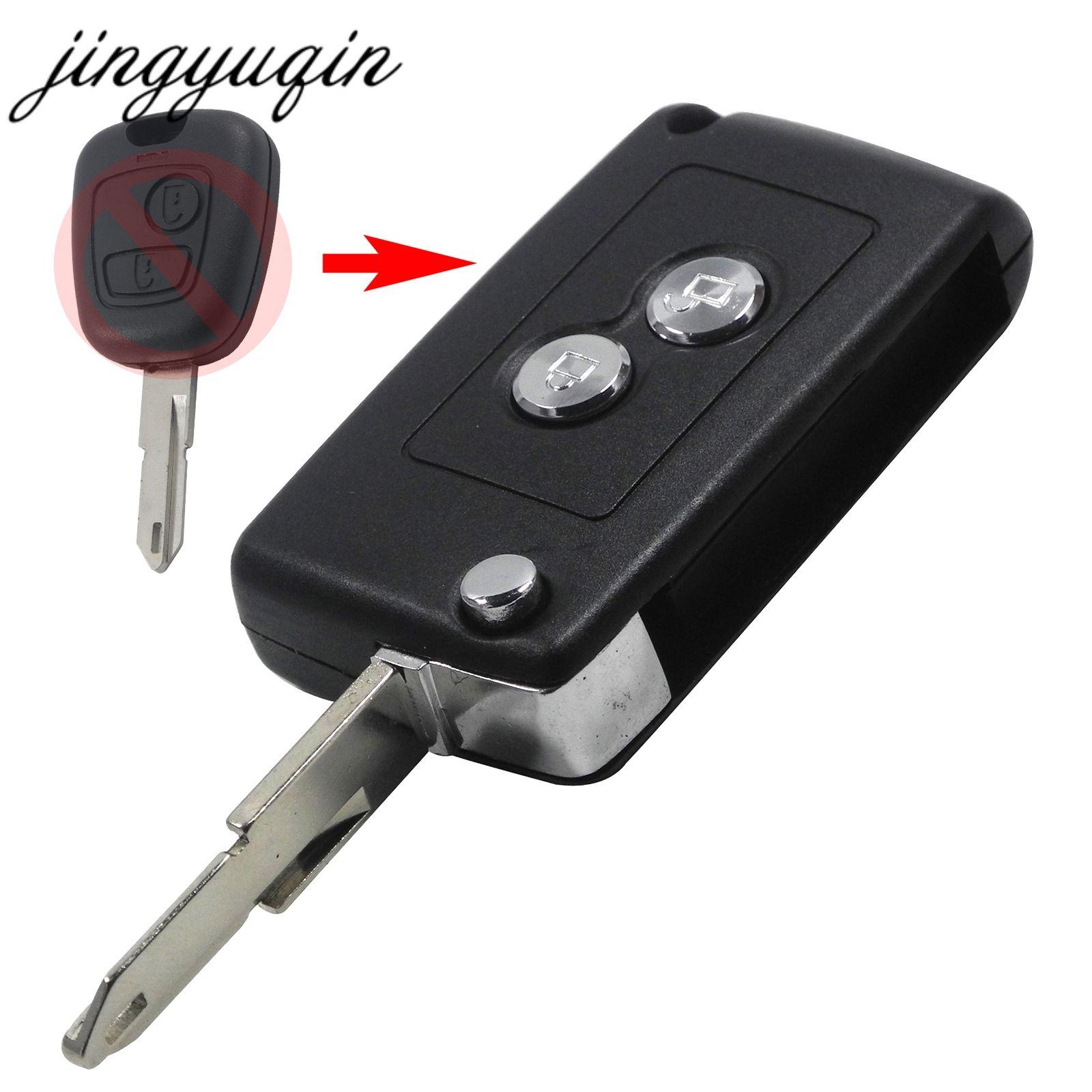 Jingyuqin Geändert 2 Tasten Flip Folding Auto Schlüssel Shell fob für Citroen C2 C3 Xsara Picasso Fernbedienung Auto Schlüssel Fall ersatz