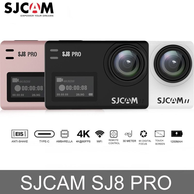Original SJCAM SJ8 Pro Touch Screen Action Camera WiFi 4K 60fps HD DVR Camcorder Remote Control 30m Waterproof Sports Camera