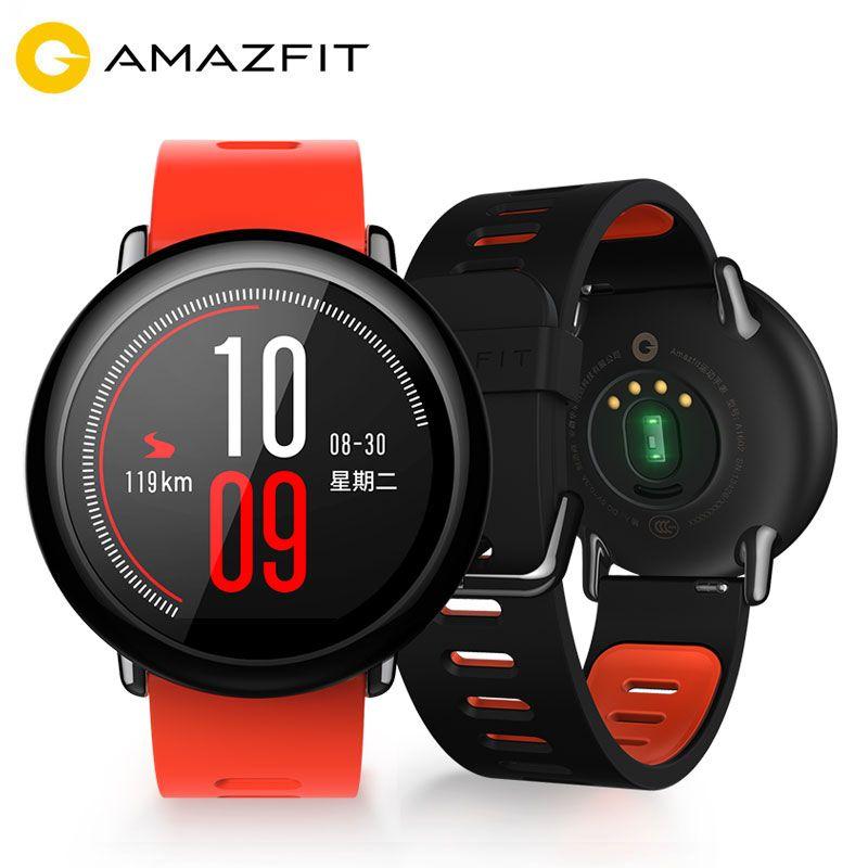 [English Version] Xiaomi Huami Amazfit Smart Watch GPS Pace Heart Rate Waterproof IP67 Men Women Sports Smartwatch Android IOS
