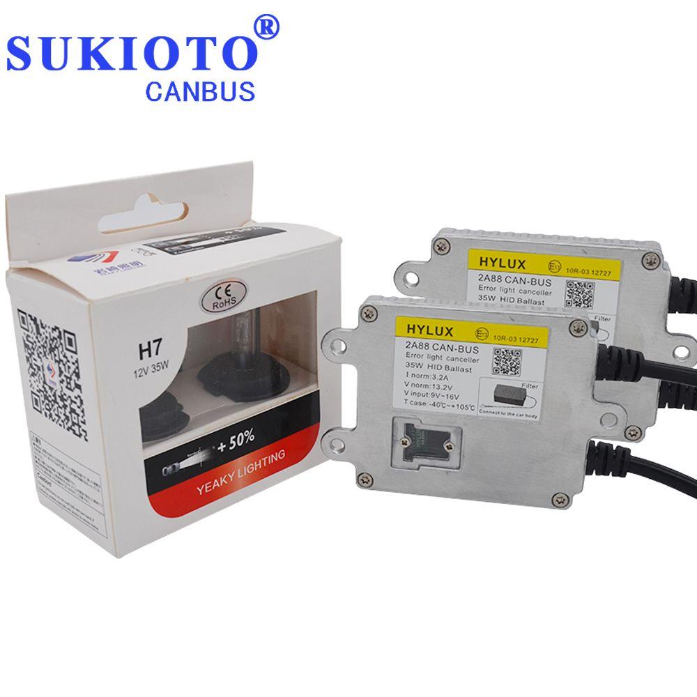 SUKIOTO Canbus HID Xenon Kit Hylux 2A88 ballast Scheinwerfer Yeaky D2H H1 H7 H11 HB3 D2S Yeaky beleuchtung 4500 karat 5500 karat 6500 karat hyluxtek