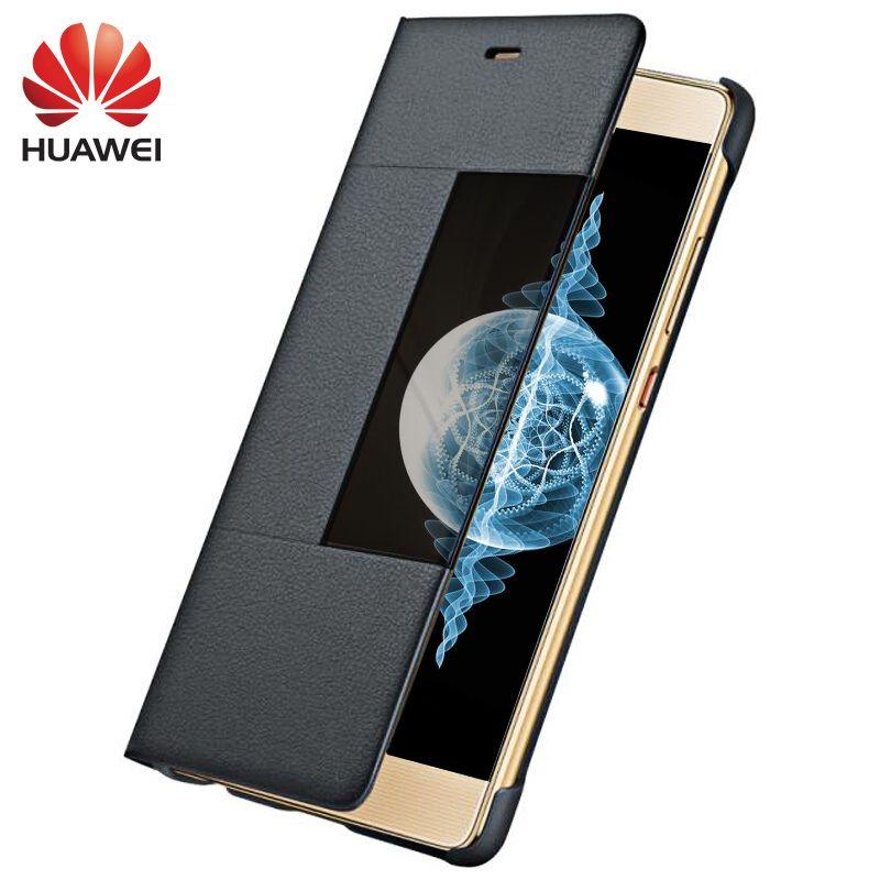 Huawei P9 P9 Plus housse de protection 100% Original en cuir de luxe fenêtre intelligente vue p 9 360 protection complète support pour téléphone universel