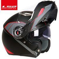 Capacete ls2 ff370 moto rcycle casco de moto cafe racer casco Flip completo cara doble lente visor capacetes de moto ciclista