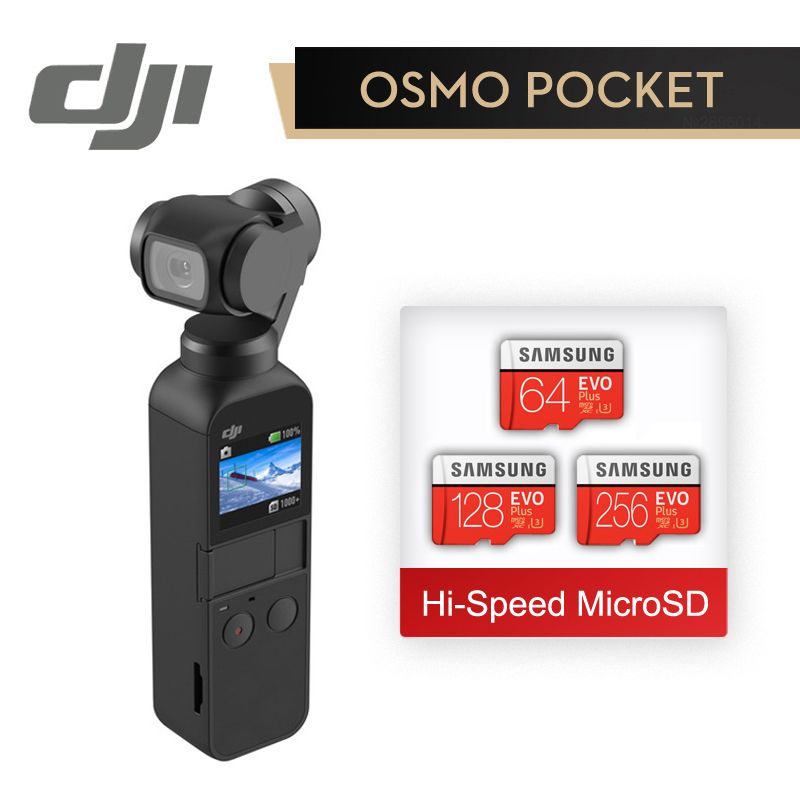 DJI Osmo Pocket In Stock The Smallest 3-axis Stabilized Handheld Camera With 4K 60fps Video Original Brand DJI Mini Osmo