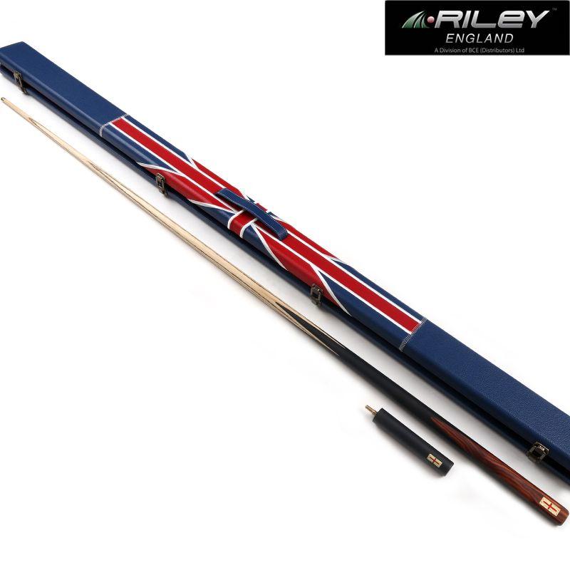 Berufs Einem Stück RILEY Snooker Queue High-end Handmade Billard Queue Kit Stick mit Fall mit Verlängerung Für Comptition 9,5mm