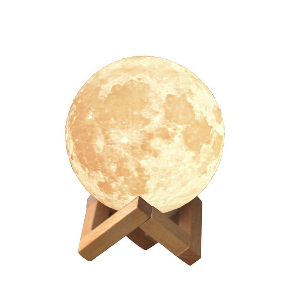 Creative 3D Impression Lune Lampe avec Tactile-Commutateur de Détection 3D Lunaire Lampe Couleur Modifiable Night Lights Pour Décoration IY303106-P