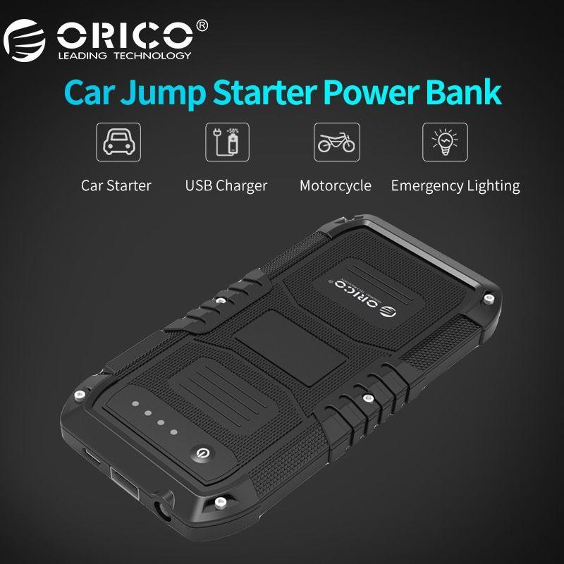 ORICO CS1 Multi-Function Car Emergency Battery Charger Mini Portable Mobile Power Bank 4000mAh Booster Starting Power Bank