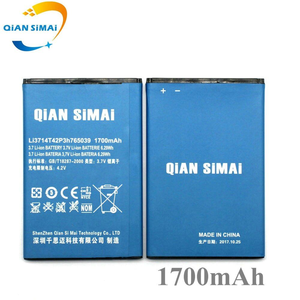 QiAN SiMAi Li3714T42P3h765039 1700mAh Battery Replacement for ZTE Blade A3 T220 AF3 T221 A5 AF5 Phone