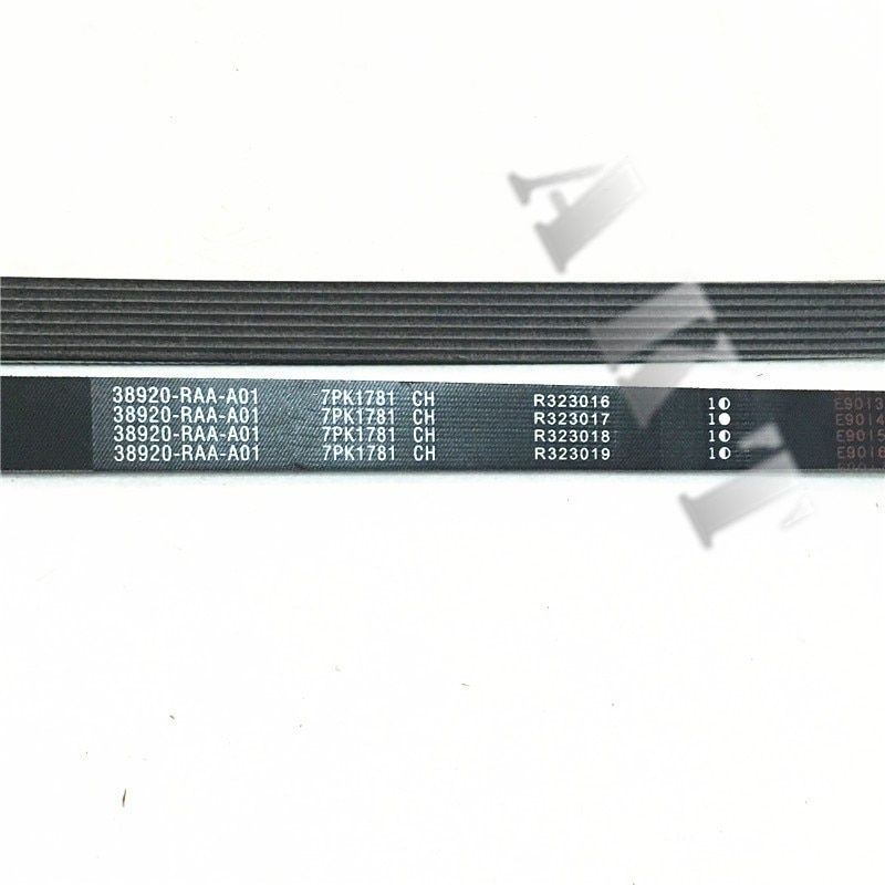 Power Steering Pump Belt,Engine belt fits FOR: HONDA ACCORD 2003-2007 2.0L/2.4L part NO.:38920-RAA-A01 7PK1781