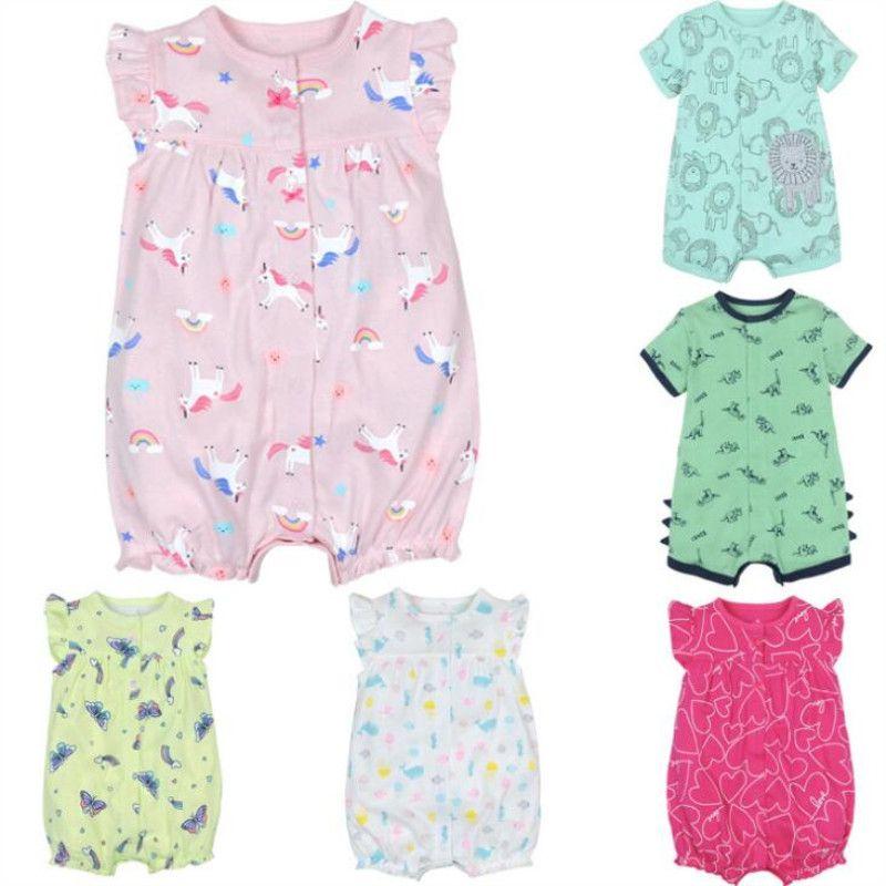 Bébé fille vêtements bébé barboteuse été coton à manches courtes fille combinaison enfants bébé tenues vêtements salopette pour les nouveau-nés