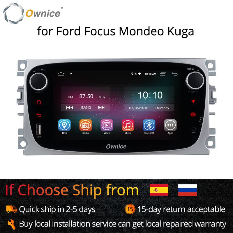Ownice K1 K2 Android Car DVD Player 2 Din radio GPS Navi for Ford Focus Mondeo Kuga C-MAX S-MAX Galaxy Audio Stereo Head Unit