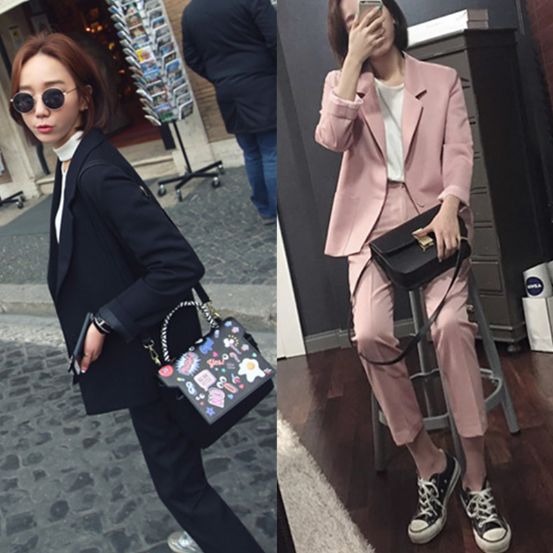 Casual suit, women's suit 2018 high quality new stely Office lady OL thin suit jacket + pants